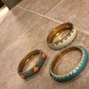 3 stella & dot braclets